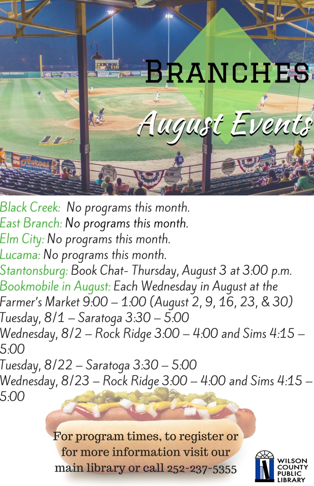 Branches August Events